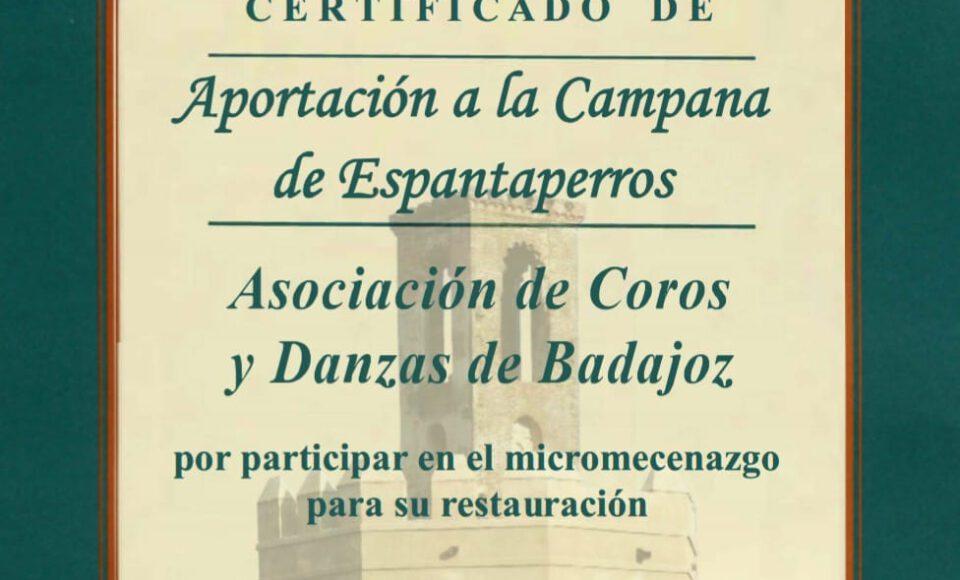 Aportación a la Campana de Espantaperros.